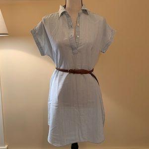 Faherty Brand Chambray short sleeve dress